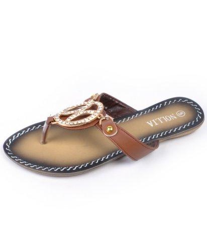 Sandalo Open Toe Zero Starlit Marrone