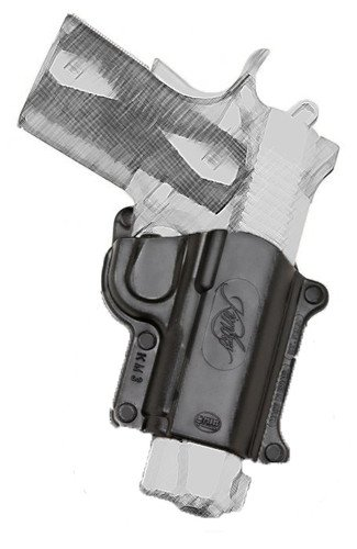 Pistol Fobus Roto / Retention Hand Gun Holster Model KM-3-RT. Fits to: Kimber Ultra Carry 3 inch. New Light HandGun Holdster (Roto Fire Arm Holster Fobus)