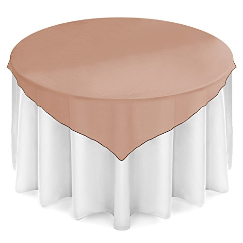 Choc Truffle - Lann's Linens Organza Wedding Table Overlay - Tablecloth Topper (72