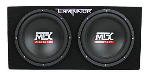 """41uxvSrQGlL - MTX TNE212D 12"""" 1200W Dual Loaded Car Subwoofers + Box + Planet 1500W Amp + Kit"""