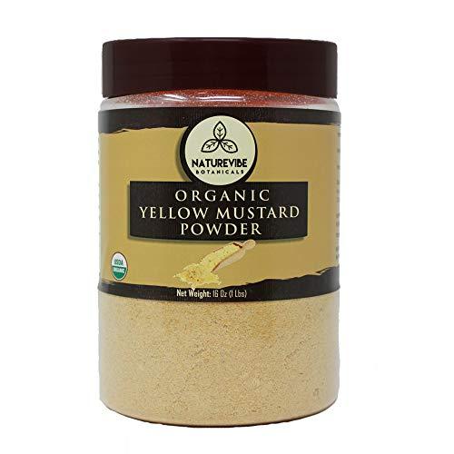 Naturevibe Botanicals Organic Yellow Mustard Seed Powder, 1 Pound - 100% Pure, Natural & USDA Organic Certified | Adds Flavor