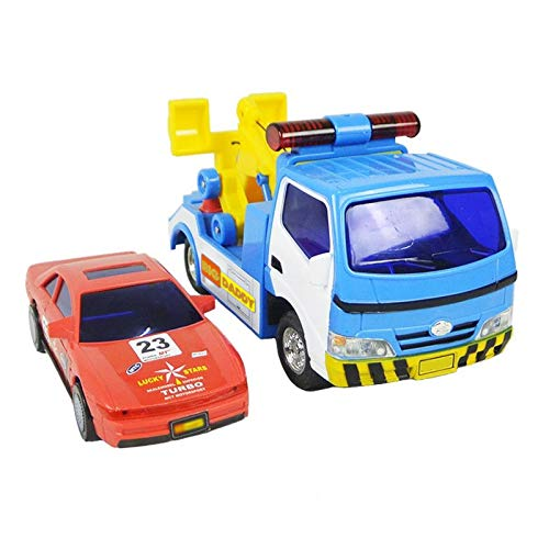 Big Daddy Police Wrecker Truck and Toy Car Combo Set Tow Truck Toy Includes A Tire Plate for Safe - Tow Police Truck