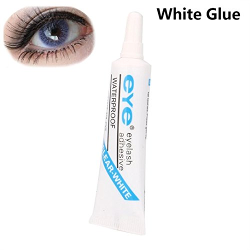 Lash Adhesive, Kemilove 7ml Glue for False Eyelashes Fake Eyelash Glue Adhesive (Blue)