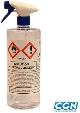 dans la Limite d1 bidon par Client Motodak nettoyant//desinfectant Solution hydroalcolique 1l