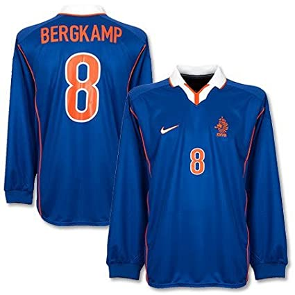 0c8819ad Amazon.com : 98-99 Holland Away L/S Jersey + Bergkamp 8 (Replica ...