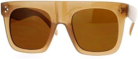 Oversized Square Sunglasses New Hip Fashion Flat Top Flat Frame