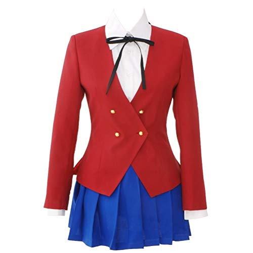 Xiao Maomi Aisaka Taiga Uniform Long Sleeves Cosplay Costume Women Sailor Suit Outfit Full Set for Halloween Festival Cosplay Party (S, -