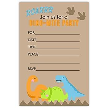 Amazon Com Dinosaur Party Invitations 10 Invitations 10