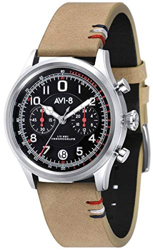 (AVI-8 Mens Fly Boy Watch - Beige/Black)