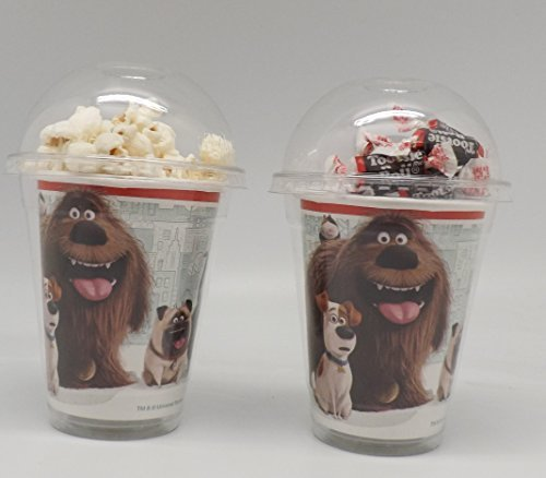 Secret Life of Pets Set of 8 - Party Cups, Popcorn Cups, Goody Bags, Favor Boxes Birthday Party Supplies