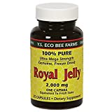 YS BEE FARMS 100% Pure Royal Jelly Capsules, 35 CT