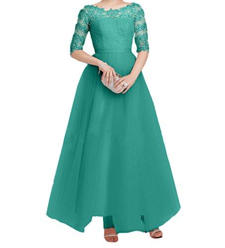 Partykleider Festlichkleider Brautmutterkleider Gruen Lang Langarm Elegant Jaeger Charmant Tuell Promkleider Damen Abendkleider Spitze xwYUOO1q
