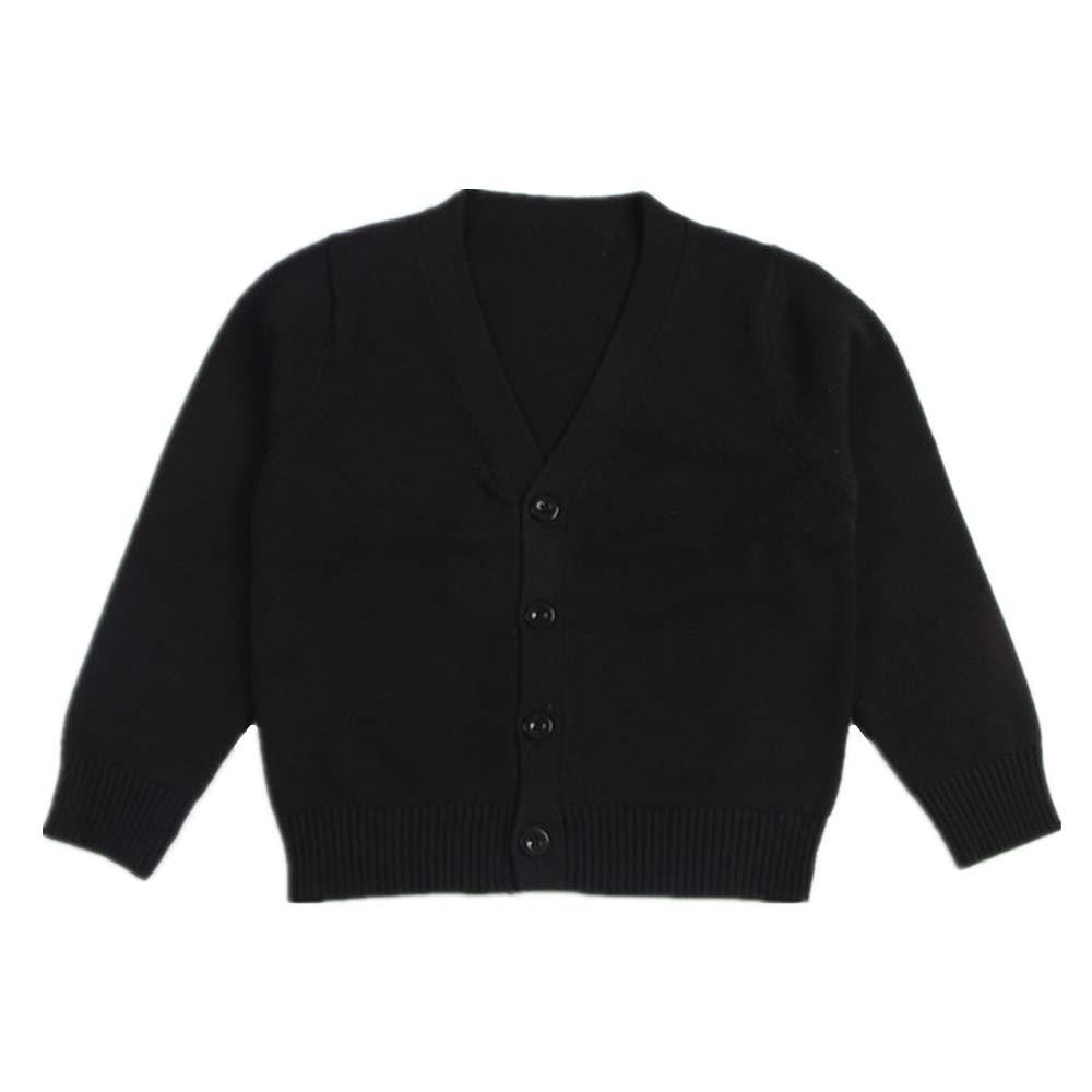 Little Kid Boy Girl Knit Sweater Cardigan Baby V-Neck Button Up Sweatshirt Coat 1-7t