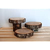 wood Slices, 3 tier rustic wood centerpiece, Large Wood Slice, Wood Slab, Rustic Wedding Decor
