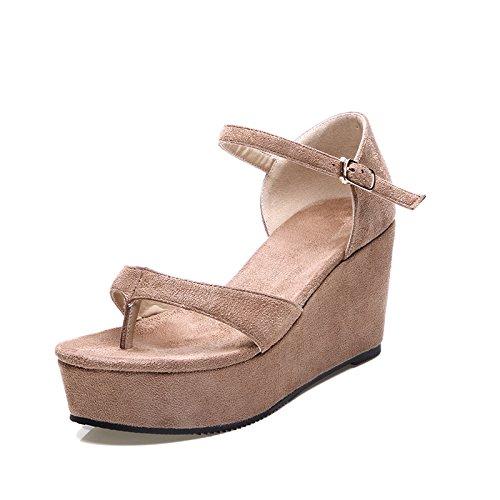 ZPPZZP Ms sandali a tacco alto estate stile Coreano Giallo 37EU