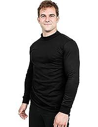 Premium Cotton Interlock Mock Turtle Neck Men Shirt
