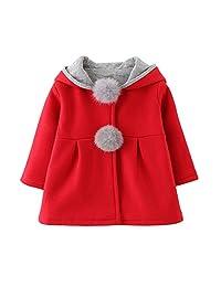 543ac75ff89 Evaliana Baby Girls Kids Toddlers Rabbit Bunny Ears Hoodie Outwear Jacket  Coat