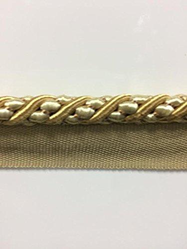 CE-3//39-3 Sold by the yard Aqua /& Beige 3//8 Cord Edge Lip Cord