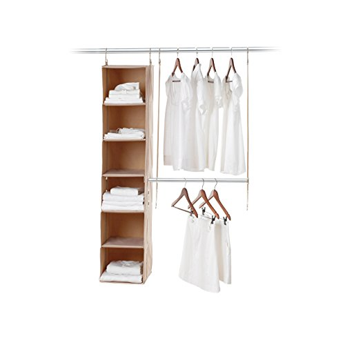 Neeatfreak 5665-ST Two Piece closetMAX SYSTEM Starter Kit 6 Shelf & Hanging Bar (Hang Double Closet)