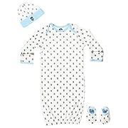 Gerber Baby Boys' Bear 4 Piece Sleepwear Essential Layette Gift Set, Size 0-6 Months
