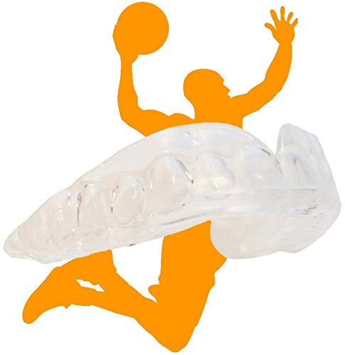 Hoopstar Basketball Sport Mouth Guards -2 Pack -Play Like a Pro - Safe Clear Color - No Color Additive - BPA Free - Athletic Teeth Mouth Guards - Fit Any Mouth Size - Custom Fit - Case Included