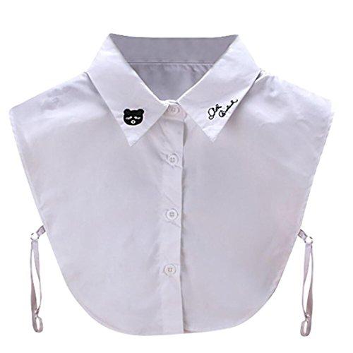 Mr.Macy New Fashion Women New Print Floral Blouse False Collar Clothes Shirt Detachable Collars - K Macys