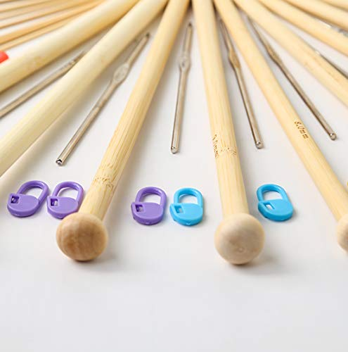 94 Pieces Crochet Hooks & Knitting Needles Set Kit - Portable Case, Contains All The Kntting & Crochet Accessories Fit Any Projects, Ideal Gift for Mom Grandma Girfriend by Akacraft (Image #2)