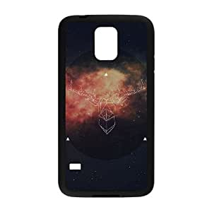 Samsung Galaxy S5 Cell Phone Case Black ai68 art illust deer space LV7170717