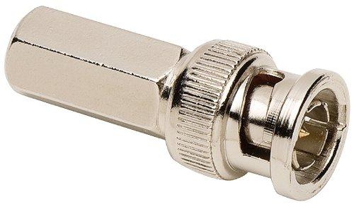 75 Ohm Bnc Twist - Allen Tel GBNC-109B-75 75-Ohm BNC Male Coaxial Twist-On Connector for RG-59/RG-62, 2-Pack