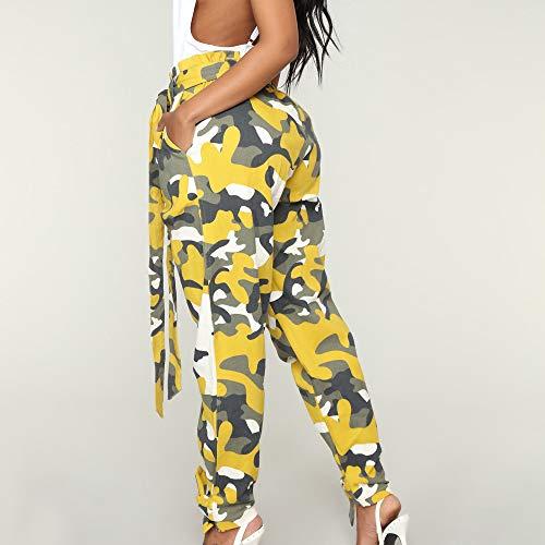 Jaune Qualit Taille Mode Camouflage Imprim Casual Pantalons Florale Haut SANFASHION Sport Camouflage Pants Militaire lphant Femme Bonne Chic Jogging 8THxq1a