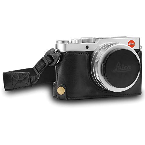 MegaGear MG1603 Ever Ready Genuine Leather Camera Half Case Compatible with Leica D-Lux 7 - Black