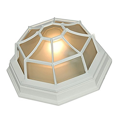 eTopLighting Oil Rubbed Finish Octagonal Exterior Outdoor Wall Ceiling Lantern Light with Frosted Glass APL1152, 11 Inch - 11 Wall Lantern