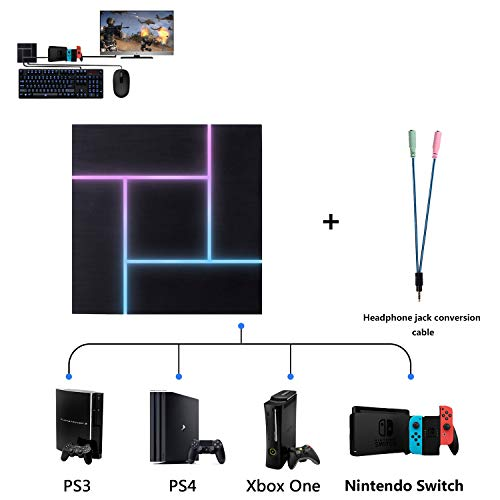 PXN Keyboard and Mouse Adapter Converter for PS3 / PS4 / Xbox One/Nintendo Switch, with 3.5mm Headphone Jack, Support Game Voice, Custom & Reset Button Function, Breathing Light Effect.