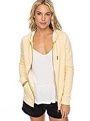 Roxy Womens Trippin - Zip-up Hoodie - Women - S - Yellow Buff Yellow Heather S
