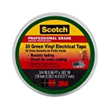 Scotch(R) #35 Green Vinyl Electrical Tape 10851-DL-10, 3/4 in x 66 ft x 0.007 in (19 mm x 20,1 m x 0.177 mm) 10/case You are purchasing the Min order quantity which is 10 RLS