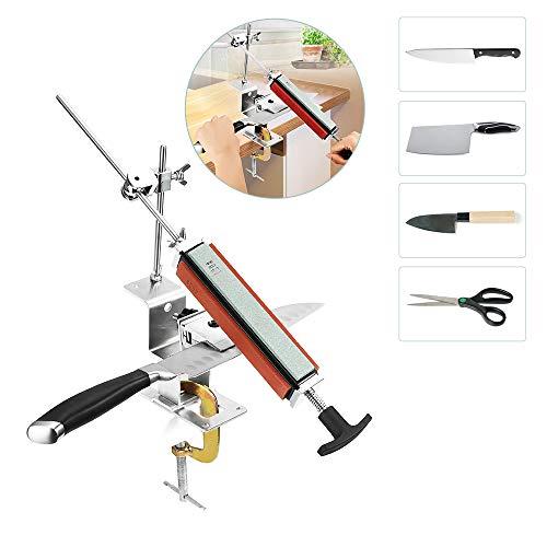 Tikitaka Knife Sharpener with 4 Sharpening Stones, Kitchen Knife Sharpeners