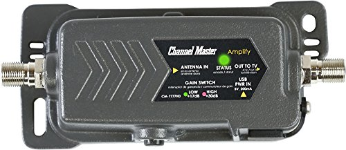 Channel Master CM-7777HD Amplify, TV Antenna Amplifier with Adjustable Gain (Amplifier Master Tv Channel)