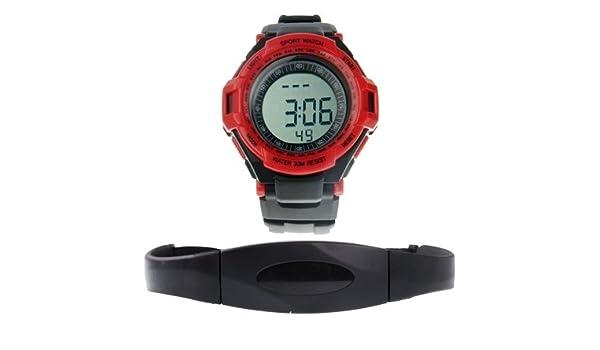 Bella relojes, mirando Sport con pulsómetro, rojo: Amazon.es ...
