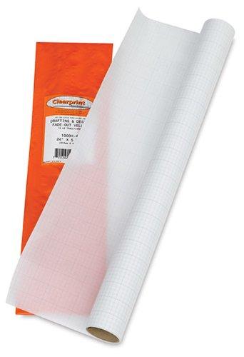 Clearprint 1000H Series 36 x 5 Yard Vellum Roll, 10x10 Grid (CP10103149) by Clearprint