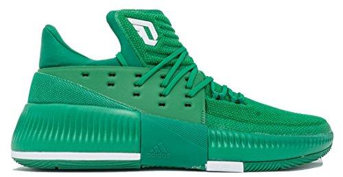 Adidas Dame 3 Nba / Mens Scarpe Basket Ncaa Verde-bianco