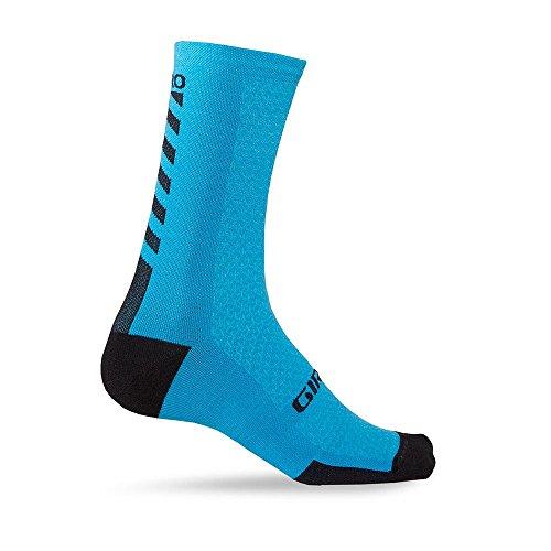 Giro HRC + Merino Wool Socks Blue/Black Large (Sensation Merino Wool Socks)