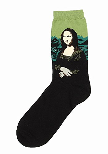Field4U Women's 4 Pairs Famous Collection Painting Crew Socks - Painting B