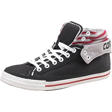 4a695c1eeeee3b Mens Converse CT All Star Padded Collar 2 Mid Black Grey Red Guys Gents  (9.5 UK 9.5 EUR 43)  Amazon.co.uk  Shoes   Bags