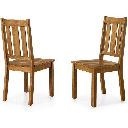 Better Homes and Gardens Bankston Dining Chair, Set of 2, Honey ()