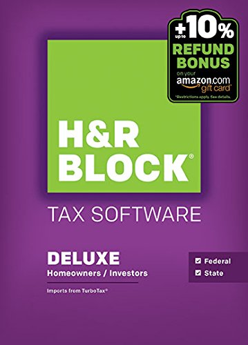 H&R Block 2015 Deluxe + State Tax Software +  Refund Bonus Offer - Windows Download [Old Version]