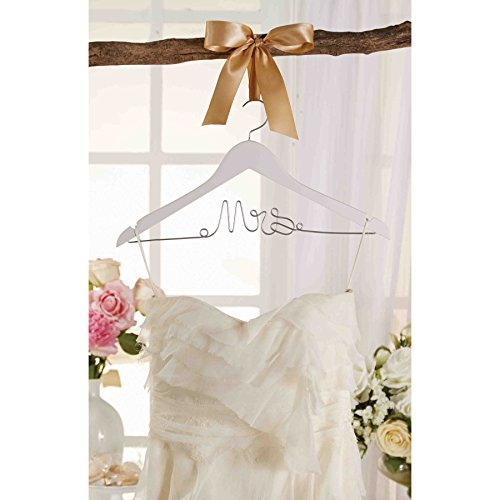 Mud pie 4485002 mrs hanger apparel accessories clothing for Wedding dress hanger amazon