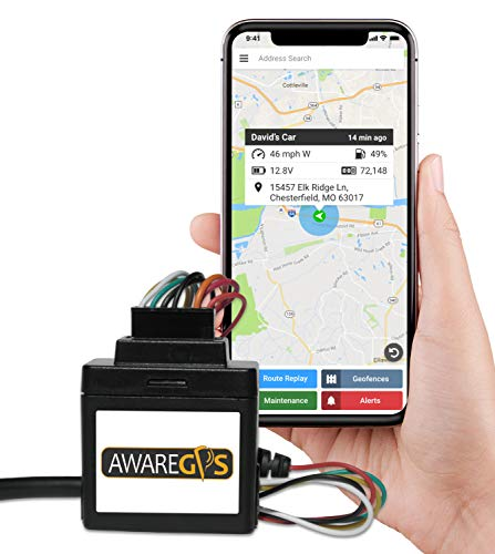 (Aware GPS AWVDS1 Aware GPS Trackers & System, Tracking Device Car, Wired Vehicle Tracking Device)