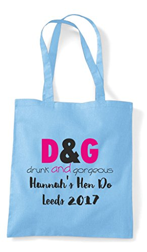 Shopper Do Sky Party Hen Bag Blue Personalised Gorgeous Drunk Customised Parody And Tote v0Pw1A0q