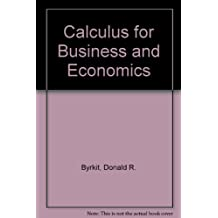 Calculus for Business and Economics