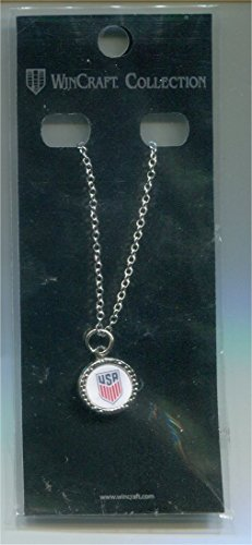 """USA National Soccer Team Necklace By Wincraft. 3/4"""" Diameter. 20 Inch Length. Enameled Pendant. Brand New."""